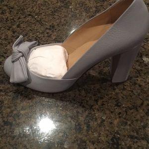 JCrew,  8M, never worn blue pumps3.75  heel